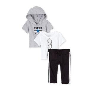 NWT Place Super Star Baby Boy Playwear Set 18-24mo
